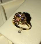 Amsterdam Sauer - Excepcional anel de ouro 18k e pedras brasileiras, modelo da déc. de 50, dito Mina. Aro 18/19.