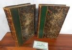 Lote com dois livros antigos  Paris 1880:  Oeuvres  de Molière Paris  Librairie Hachette Tome 2 e 5. (desgastes)