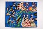 Kennedy Bahia 1972  - Tapeçaria com tema da Bahia. Assinado no verso. Mede 1,23 cm x 1m .