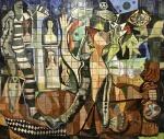 Emiliano DI CAVALCANTI (1897-1976) - Espetacular cerâmica pintada a mão, Assinada, medindo: 1,25 m x 1,05 m, EMOLDURADO (Pertenceu coleção particular do Rio de Janeiro)(reproduzido no catálogo do leilão)(FOTO PROVISÓRIA)