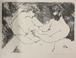 Augusto RODRIGUES (1913-1993) - gravura, (não emoldurado), medindo: 54 cm x 38 cm