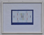 """IVAN SERPA - """"Geométrico"""", técnica mista sobre papel, assinado no canto inferior direito e datado em 1959. Med.: 30 x 40 cm."""