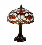 Grande abajour com corpo em metal e cúpula em mosaico de pasta de vidro. Medida 30 cm de diâmetro da cúpula e 48 cm de altura.