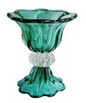 Grande e magnífico MURANO em doublecolor verde e translúcido. Medida 36 de diâmetro e 42 cm de altura. NÃO PODE SER ENVIADO PELOS CORREIOS.