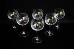 Lote com 6 (seis) taças de cristal para vinho. Não podem ser enviadas pelos correios.