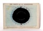 A Terra e sua Atmosfera -reprodução de original didático inglês antigo. 21,5 x 30 cm.