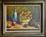 B.POLONI - Natureza Morta, óleo sobre tela, 1955, assinado e ricamente emoldurado. Medida da pintura 50x65cm e com moldura 73x88cm.