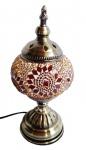 Luminária ao melhor estilo marroquino com cúpula em mosaico de vidro com base em metal. Peça sem uso e em excelente estado. Medida 28 cm de altura.