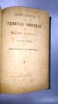 SENTENÇA DO TRIBUNAL ARBITRAL na QUESTÃO DE LIMITES ENTRE OS ESTADOS DO ESPIRITO SANTO E MINAS GERAIS, ANO 1915 **  72pp