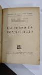 LIVRO: Em Torno da Constituição, POR:  João Mangabeira, ANO 1934, RARA EDIÇÃO
