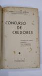 LIVRO: Concurso de Credores, POR:  Sylvio M. Teixeira, 1ª EDIÇÃO ANO 1936