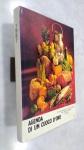LIVRO DE RECEITAS ITALIANAS : Agenda di un cuoco doro 1987  ricettario *** MIOLO ÍNTEGRO, SEM RISCOS OU RASURAS.  ILUSTRADO VÁRIAS RECEITAS
