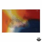 """Acrílico sobre tela """"Abstrato"""" moldura em madeira. Dimensões: 120 cm x 60 cm."""