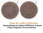 0001 Numismatica    Moeda Brasil 40 reis Bronze de 1896  Uma das moeda Mais raras da Republica.  Essa Peça fez parte de uma Importante Coleção Numismática e as peças além de raras Apresentam um estado de conservação Excelente.