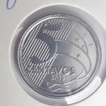0146 Numismatica -  Moeda Brasil 50 Centavos de 2012 RARA ERRO DE CUNHAGEM 50 sem o ZERO C  . Essa Peça fez parte de uma Importante Coleção Numismática e as peças além de raras Apresentam um estado de conservação Excelente.