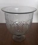 Vaso decorativo de vidro todo trabalhado em detalhes delicados - Diâmetro: 29 cm e Altura: 30 cm
