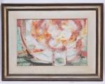 """Enrico Bianco - """" Flores """", óleo sobre madeira industrializada. Assinado cid e datado 1968. Med. 45 x 67 cm e 73,5 x 96,5 cm com a moldura."""
