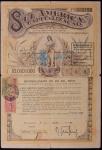 Título de capitalização Sul America, datado 1 de Junho de 1934, no valor de Rs 10:000$000.Titulo já se encontra quitado.