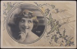 Cartão Postal selado , impresso por Reuthinger, Paris, datado de 02 de outubro de 1904, medindo 9 x 14 cm.