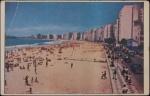 Cartão Postal  Praia de Copacabana, editado por Tradimex do Brasil, medindo 9 x 14 cm.