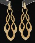 Par de Brincos em Ouro 18 K com 0,512 quilates de Brilhantes com peso total 9,2 gramas.