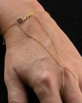 """Anel Pulseira em Ouro 18 k inscrição """"LOVE"""", com 8 Rubis com peso total 2,9 gramas."""