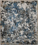 André Pompeu, Abstrato, Técnica mista sobre tela, medindo 46 x 38,5 cm.