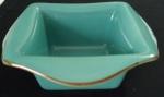Centro de mesa  norte americano em porcelana esmaltada na cor verde e marrom. Marcada SOUTHERN LIVING. - Medidas: 20x20x9 cm