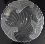 Prato de bolo em vidro liso e fosco - Diâmetro:34 cm