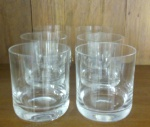 Seis copos de Whisky em cristal -  Diâmetro: 9 cm e Altura: 10 cm
