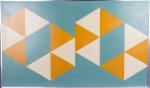 """Hermelindo Fiaminghi - """" Geométrico"""", O.S.E., assinado no canto inferior direito e datado em 1958, assinado e datado também no verso, obra submetida a família do artista, ex coleção """" Sidney Sepulveda"""". Med.: 60 x 100 cm."""