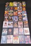 Lote com 35 DVDs de vários filmes de diversos estilos e tipos de filmes.