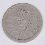 Lote composto por moeda de 100 Réis comemorativa do IV Centenário da Colonização do Brasil, 1532-1932 .