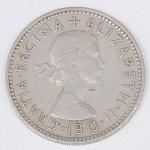 Lote composto por moeda do Reino Unido de 1 Shilling cunhada em 1955..