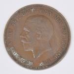 Lote composto por moeda do Reino Unido de 1 Penny cunhada em 1936.