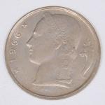 Lote composto por uma moeda Belga de 5 Francos cunhada em 1955.