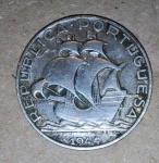Lote composto por Moeda de Prata - 2,5 Escudos  - 1944 - Portugal