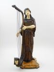 Escultura Cristoelefantino,bronze e marfim. Representando princesa egípcia. Assinada Dominique Alonzo, altura 65 cm.