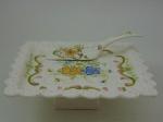 Prato para torta com pá para servir. Cerâmica WAISS, comprimento 30 cm, largura 30 cm.