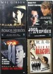 DVD - Lote composto por 4 filmes de Ação a saber: Duro de Matar; Cães de Aluguel; Jogo de Espiões; Fomos Heróis. Muito bom estado de conservação.
