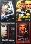 DVD - Lote composto por 4 filmes de Suspense a saber: Armadilha; Inimigo em Casa; Sob Suspeita; Por um Fio. Muito bom estado de conservação.