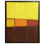 """Silvio Oppenheim (1941-2012), """"Abstrato"""". Óleo sobre tela. 50 x 40 cm."""