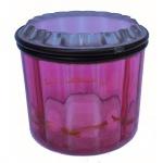 Baccarat - Caixa em cristal na cor vermelha. 7,5 x 8 cm de diâmetro.
