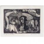 Maciej Antoni Babinski (Varsóvia, Polônia 1931) - Sem Título. Gravura em metal P/A. Assinado cid, e datado de 65. 13 x 17 cm.