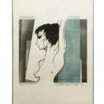 """Aldemir Martins, (1922-2006) """"Mulher"""". Gravura 56/100. Assinado cid e datado de 82. 66 x 50 cm."""
