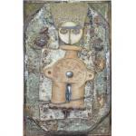 Francisco Brennand (1927) -Escultura em cerâmica policromada. Assinada. 60 x 35 cm.