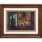"""Di Cavalcanti (1897-1976), """"Figuras"""". Óleo sobre tela. Assinado, cid, verso e datado de 1970. 50 x 73 cm."""