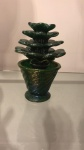 Napoleone Martinuzzi  (1892 - 1977 ) para  Venini & C., cerca de 1930,  Vaso de planta  de vidro de Murano Pulegoso,  altura 19 cm.       https://lestanzedelvetro.org/en/exhibitions/napoleone-martinuzzi-venini-1925-1931/