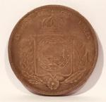 Moeda em Prata de 1000 Réis Império Brasil, cunhada em 1856.