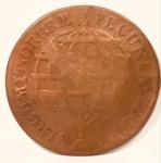 Rara moeda Brasil Colonial de XX Réis cunhada em 1776.